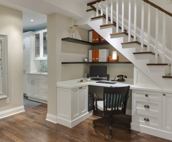 Under Stairs Home Office